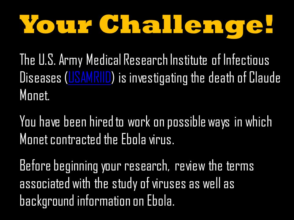 Your Challenge. The U.S.