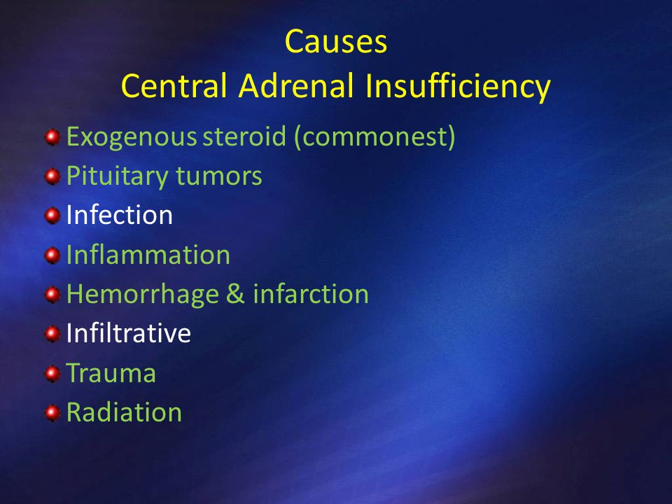 CLINICAL PRESENTATION Adrenal Insufficiency