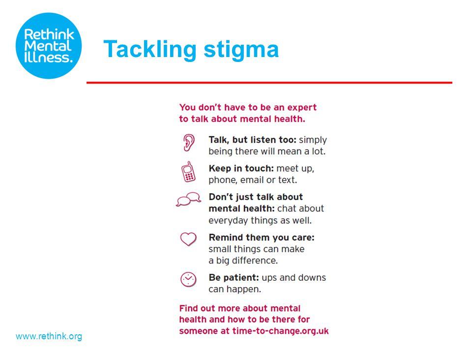 www.rethink.org Tackling stigma