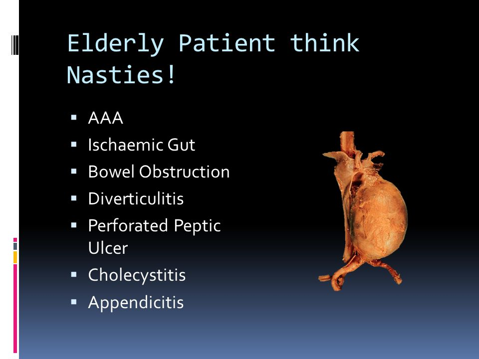 Elderly Patient think Nasties.
