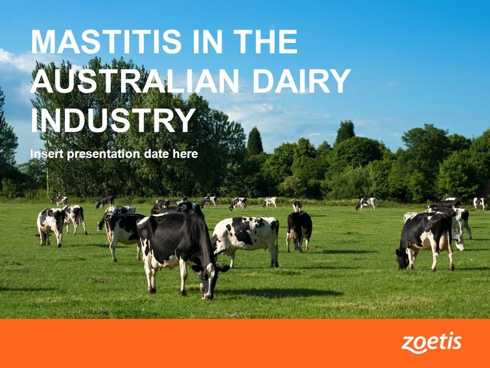 1Mastitis in the Australian dairy industry MASTITIS IN THE AUSTRALIAN DAIRY INDUSTRY Insert presentation date here