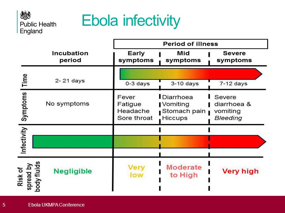 Ebola infectivity Ebola virus is spread among people through close and direct physical contact with infected body fluids People infected with Ebola can only spread the virus to other people once they have developed symptoms.