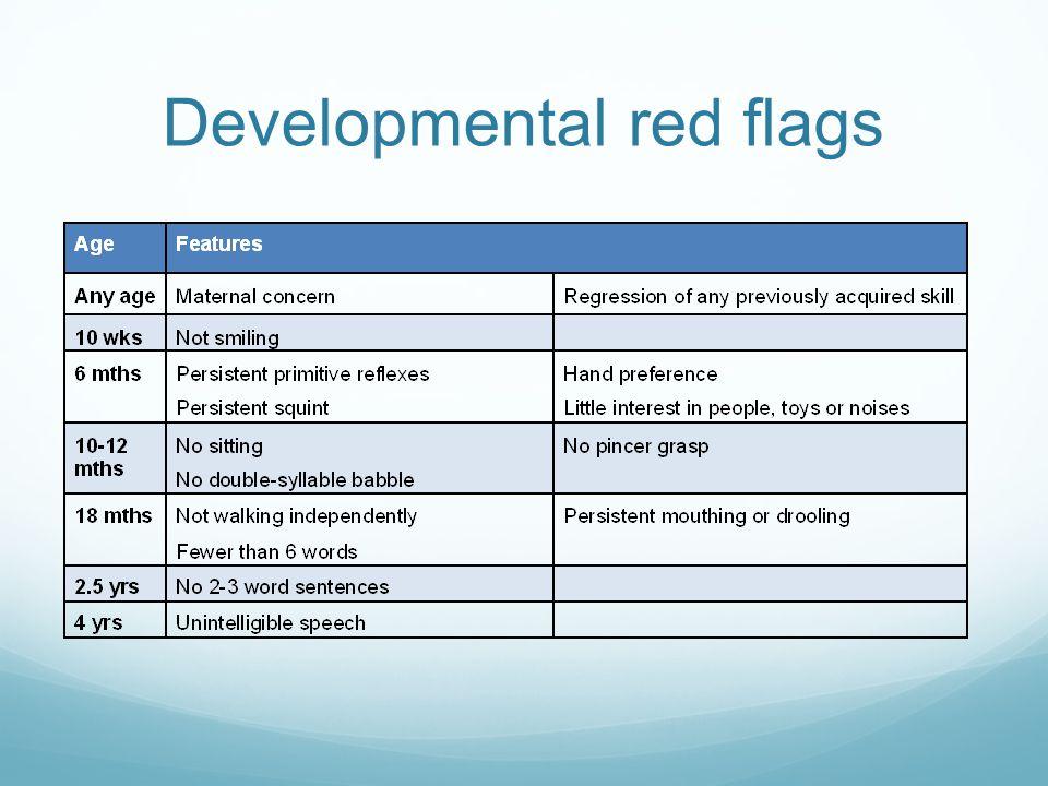 Developmental red flags