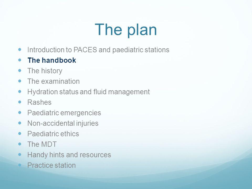 The Handbook History Examination Key topics Emergency algorithms' Top tips and handy hints