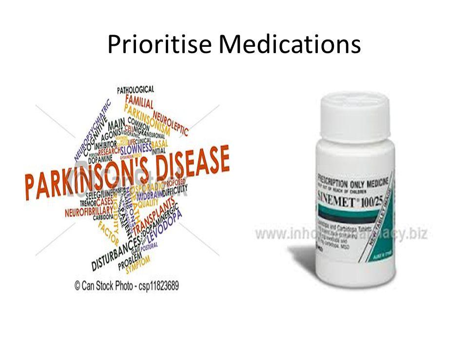 Prioritise Medications