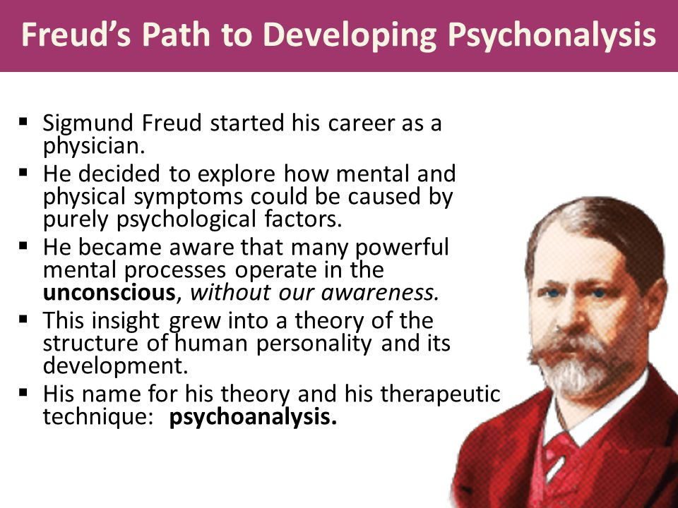 Techniques for revealing the unconscious mind:  He used creative techniques such as free association: encourage the patient to speak whatever comes to mind,  The therapist then interprets any potential unconscious wishes hidden in the client's hesitations, slips of the tongue, and dreams.