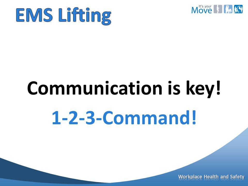 Communication is key! 1-2-3-Command!