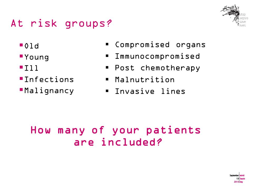 At risk groups.