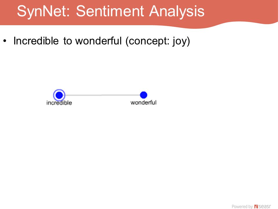SynNet: Sentiment Analysis Incredible to wonderful (concept: joy)