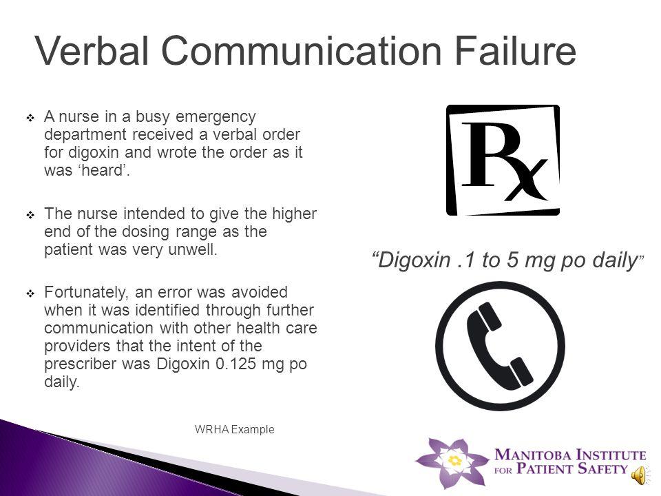 1. Human factors 2. COMMUNICATION 3. Name confusion 4.
