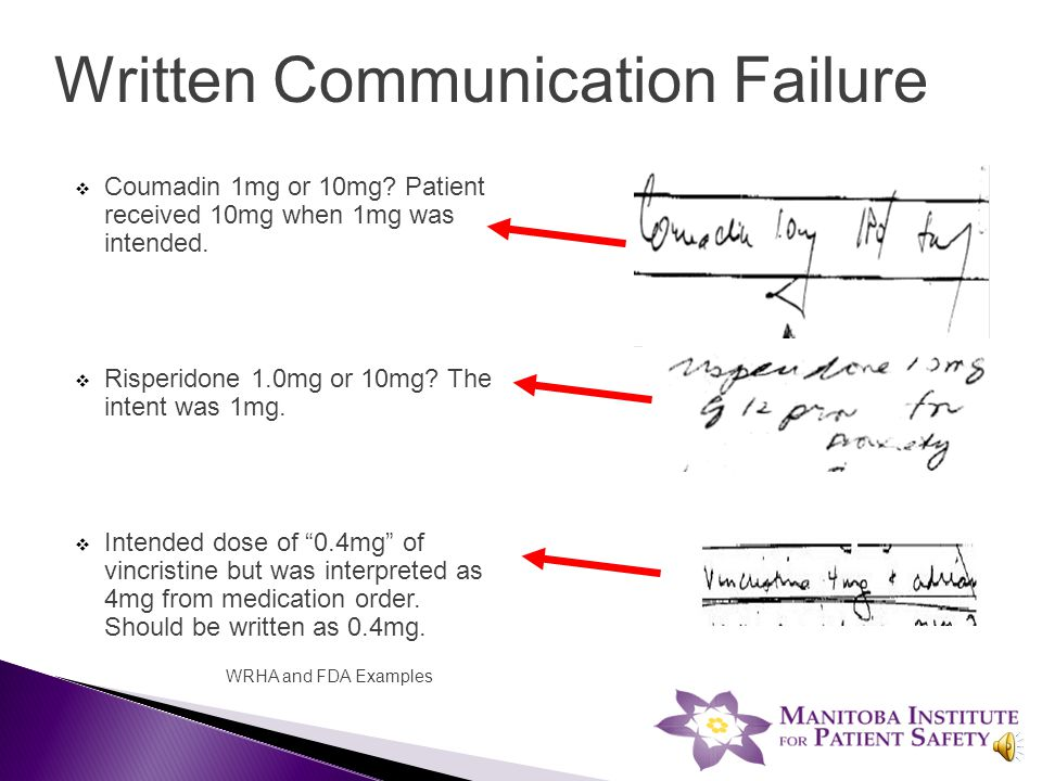 Verbal Communication Failure  A nurse in a busy emergency department received a verbal order for digoxin and wrote the order as it was 'heard'.