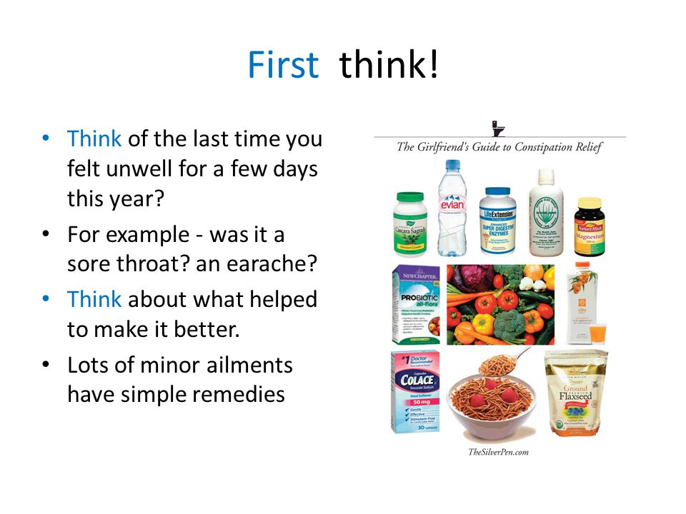 First think. Think of the last time you felt unwell for a few days this year.