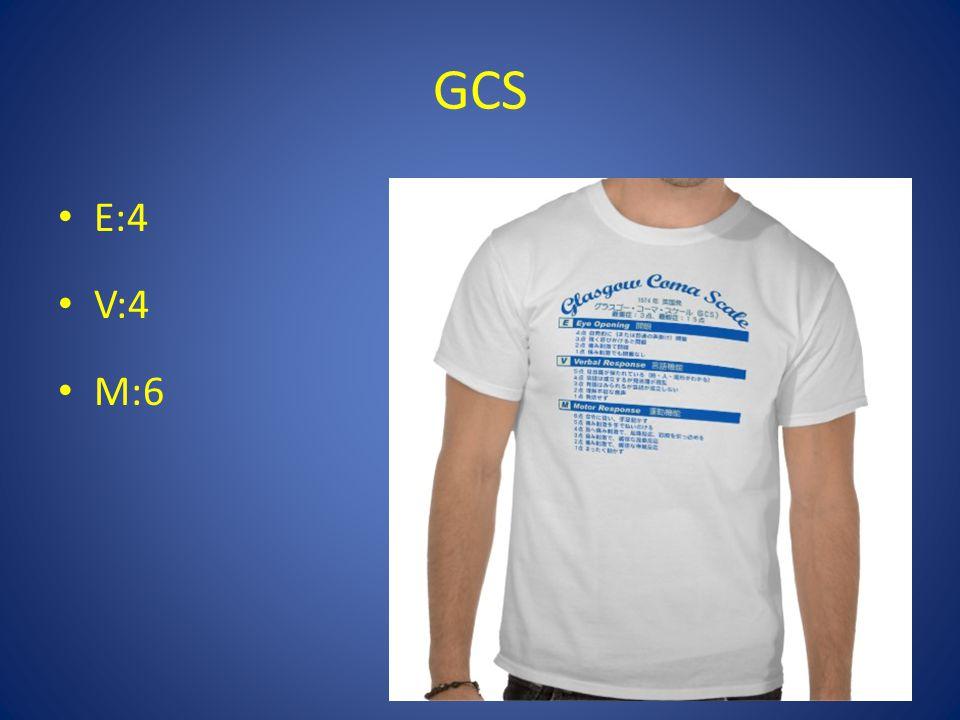 GCS E:4 V:4 M:6
