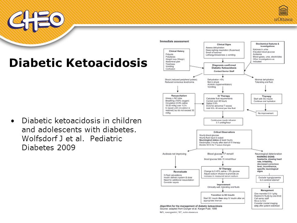 Diabetic Ketoacidosis Diabetic ketoacidosis in children and adolescents with diabetes.