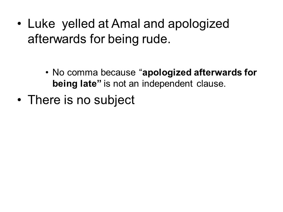 Luke yelled at Amal and apologized afterwards for being rude.