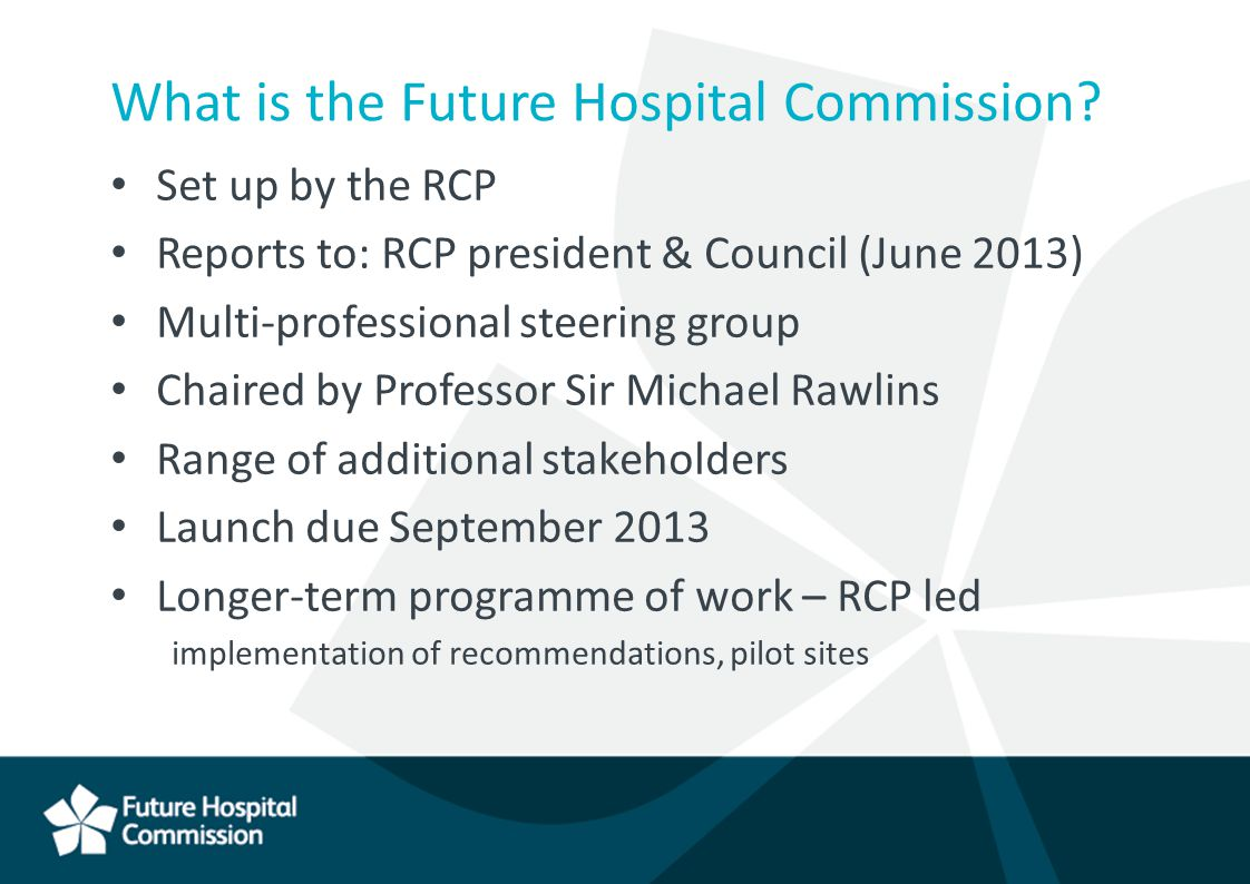 What is the Future Hospital Commission.