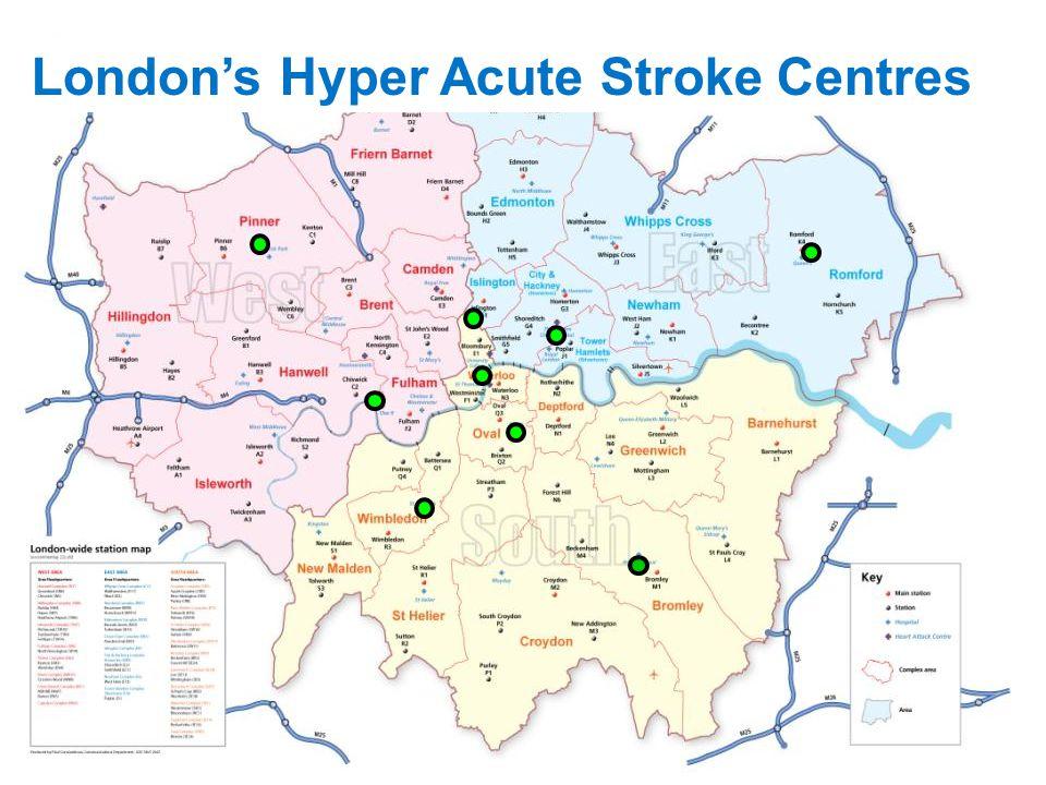London's Hyper Acute Stroke Centres