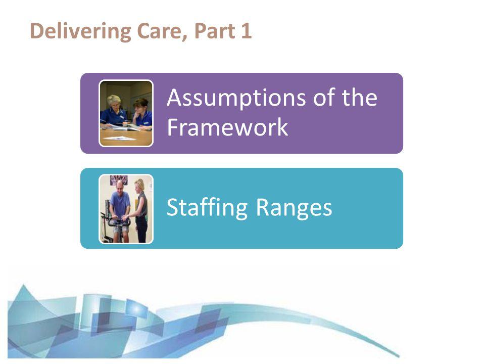 Assumptions of the Framework Staffing Ranges Delivering Care, Part 1