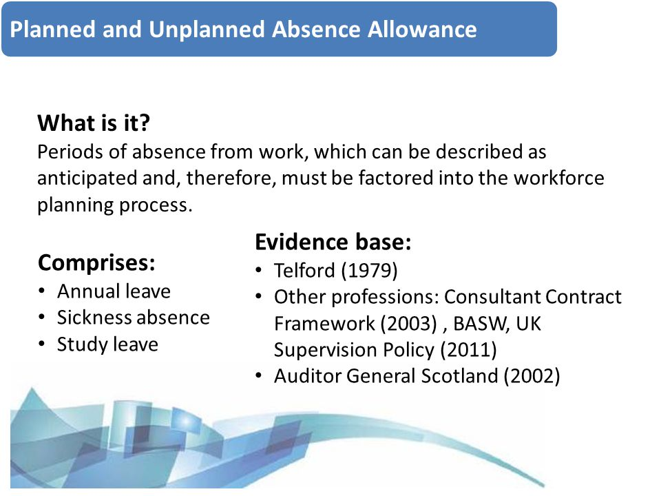 Planned and Unplanned Absence Allowance What is it.