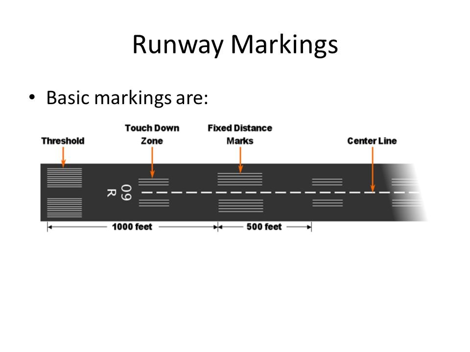 Runway Markings Basic markings are: