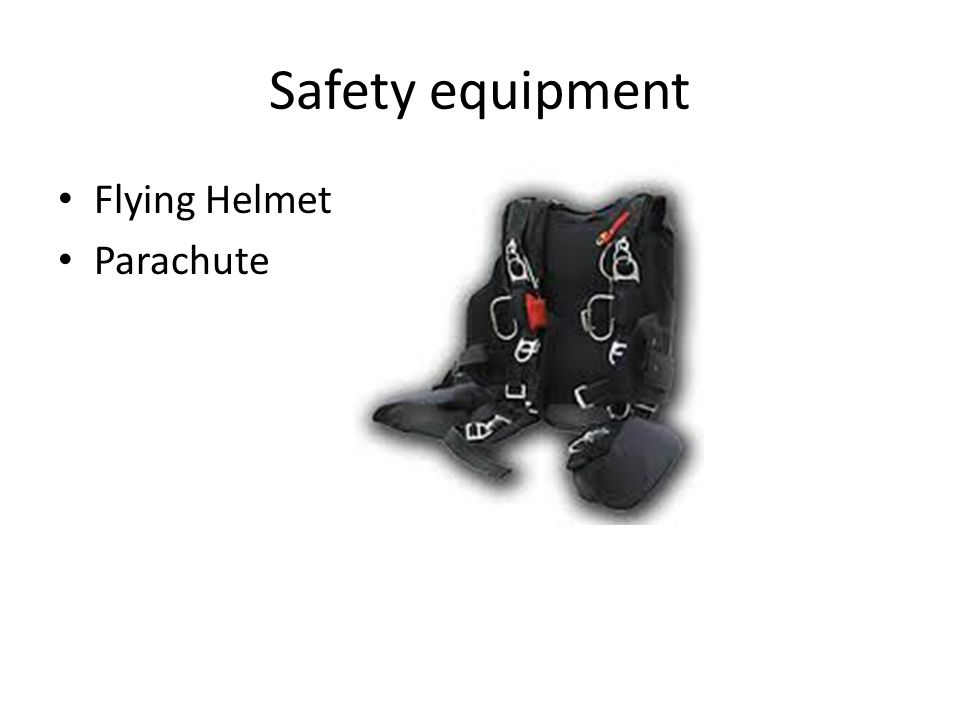 Safety equipment Flying Helmet Parachute