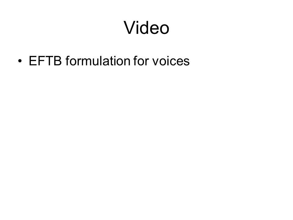 Video EFTB formulation for voices