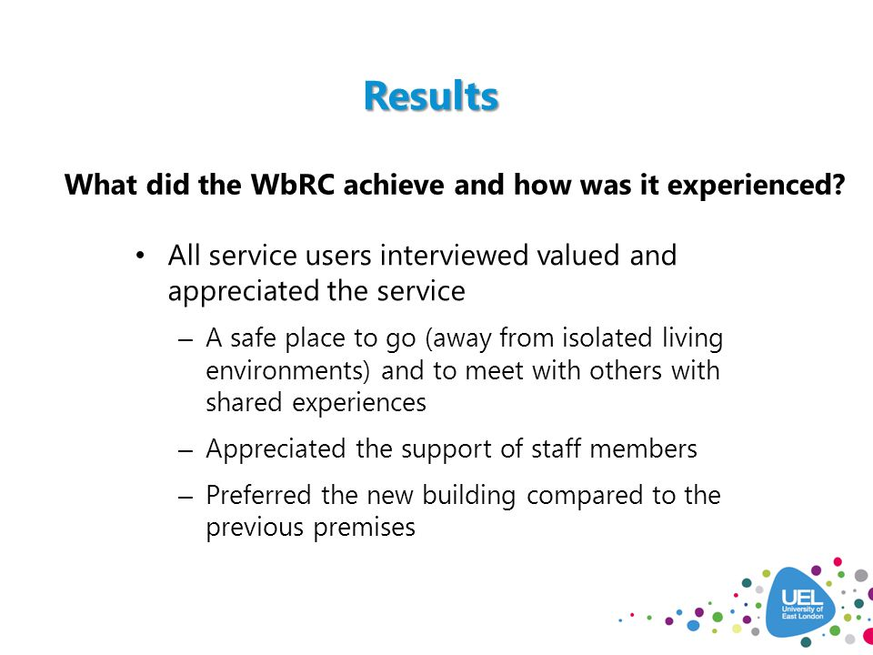 What did the WbRC achieve and how was it experienced.