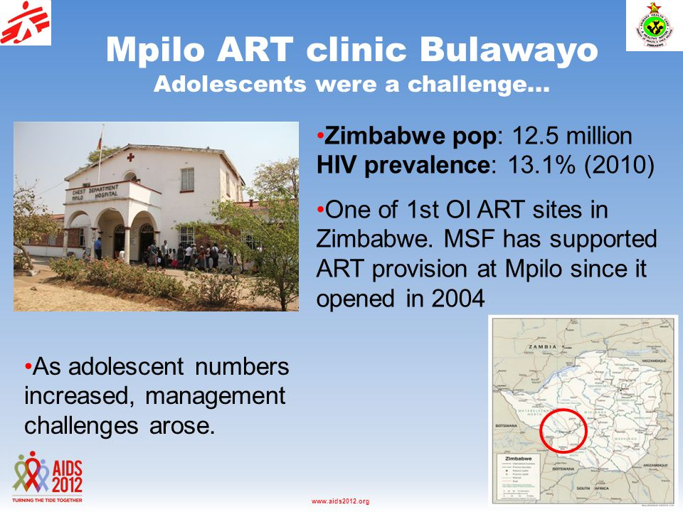 Washington D.C., USA, 22-27 July 2012www.aids2012.org Mpilo ART clinic Bulawayo Adolescents were a challenge...