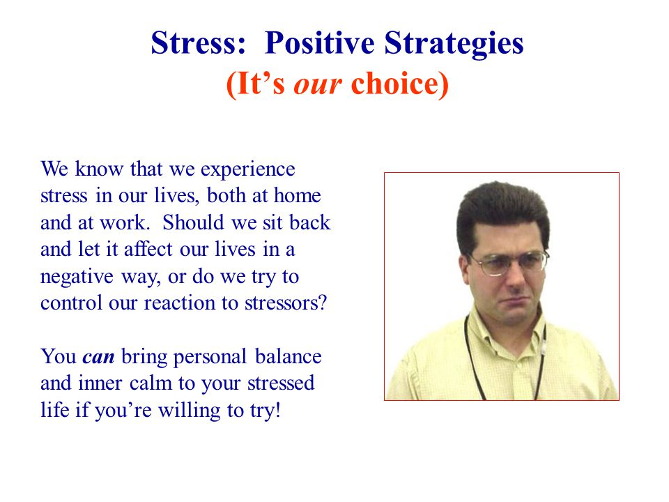 Stress: Symptoms, continued How do you know when you're under too much stress? Well, you may feel depressed, unwell, or burned out. Here are some comm