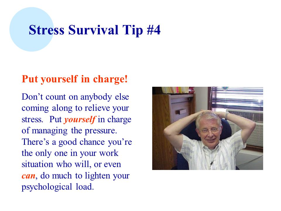 Stress Survival Tip #3 Recognize universality ...