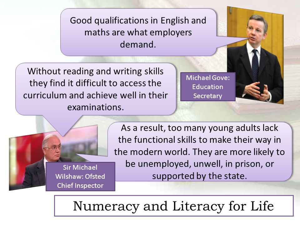 Good qualifications in English and maths are what employers demand.