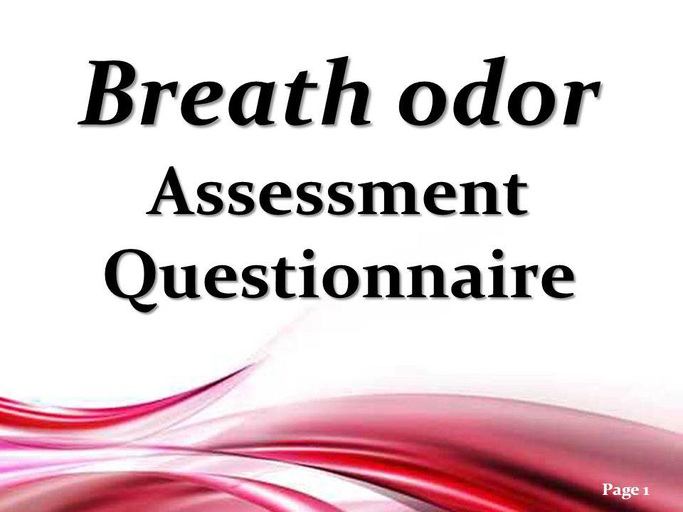 Free powerpoint templates page 1 breath odor assessment 2 free powerpoint templates page 1 breath odor assessment questionnaire breath odor assessment questionnaire toneelgroepblik Gallery