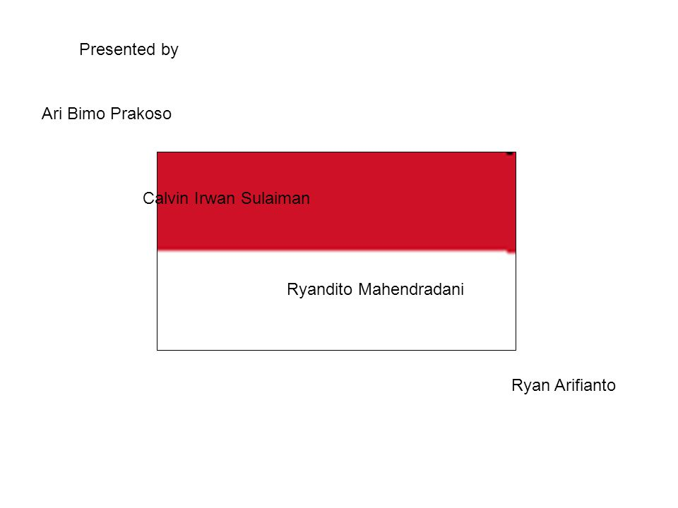 Ari Bimo Prakoso Calvin Irwan Sulaiman Ryandito Mahendradani Ryan Arifianto Presented by