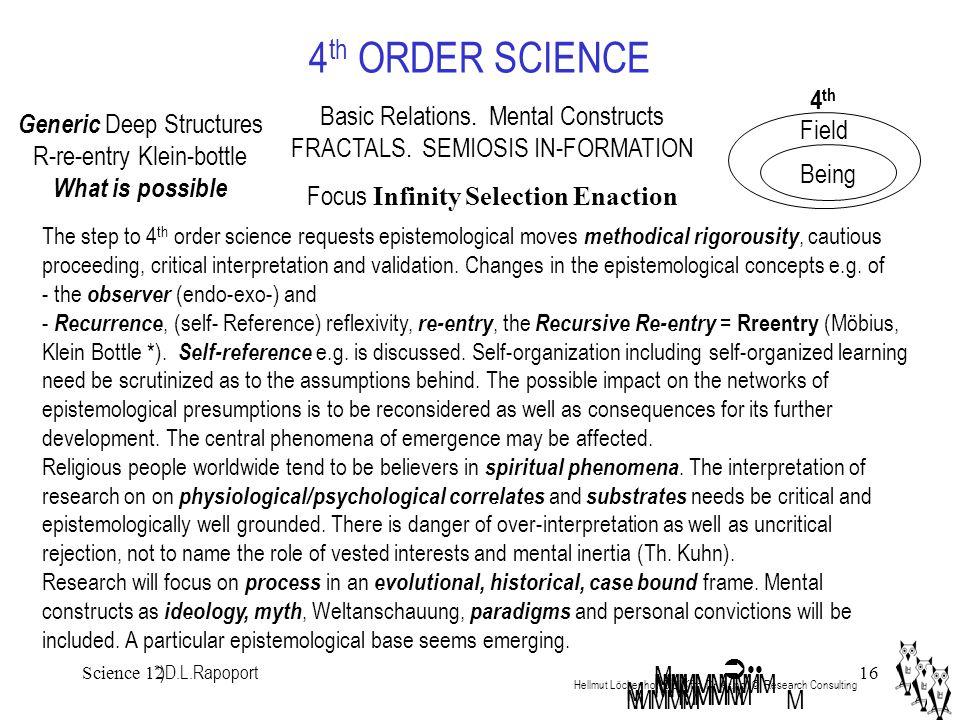 Science 1216 4 th ORDER SCIENCE Hellmut Löckenhoff Dipl.Kfm.