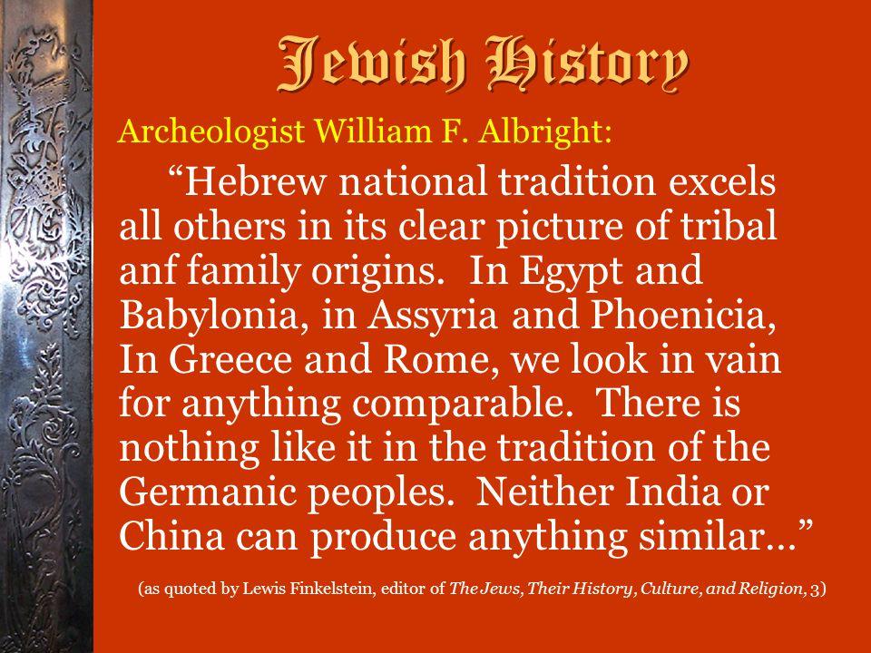 Jewish History Archeologist William F.