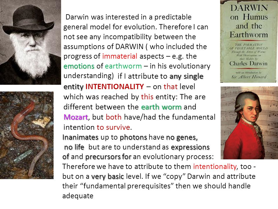 emotions Darwin was interested in a predictable general model for evolution.