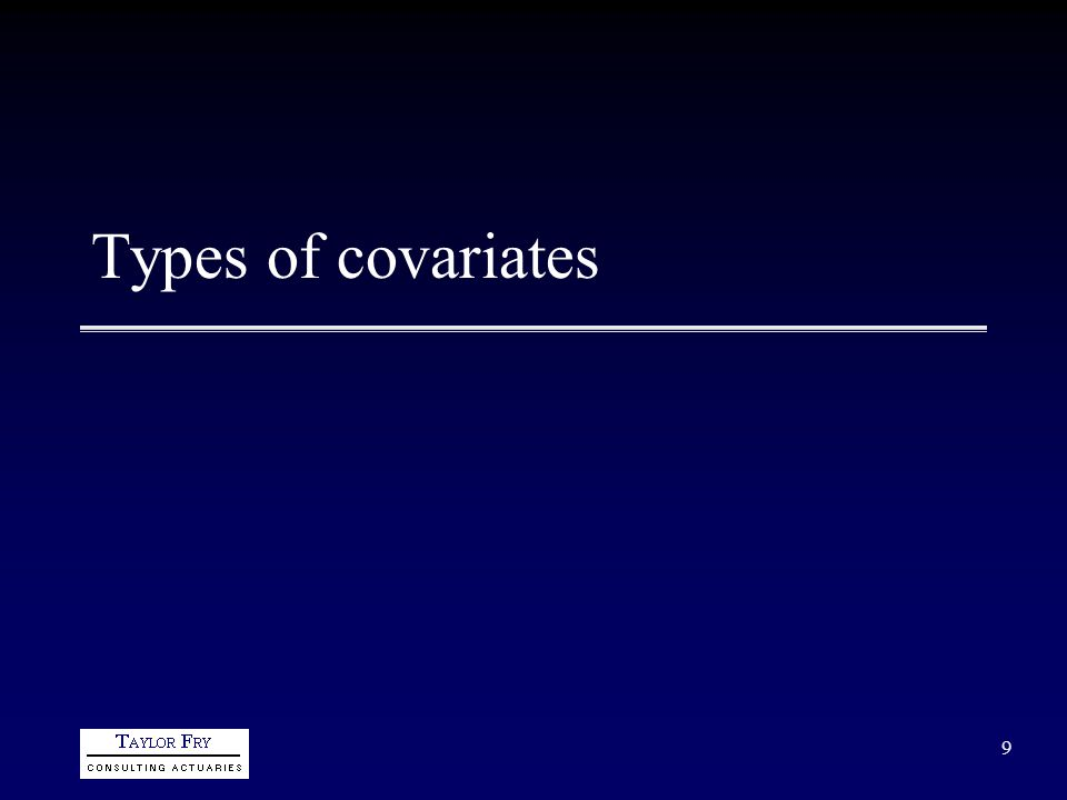 9 Types of covariates
