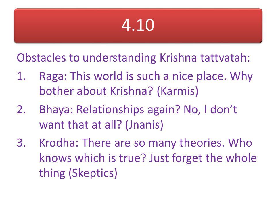Varnashrama Provides a social structure for spiritual advancement: Ashrama: Provides a timewise progression in one's spiritual commitment Varna: Provi
