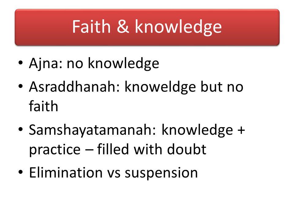 Faith & knowledge Faith (Favorable curiosity) -> Knowledge -> Faith ….. Various aspects of knowledge of KC: 1.Some strike us as true on first hearing