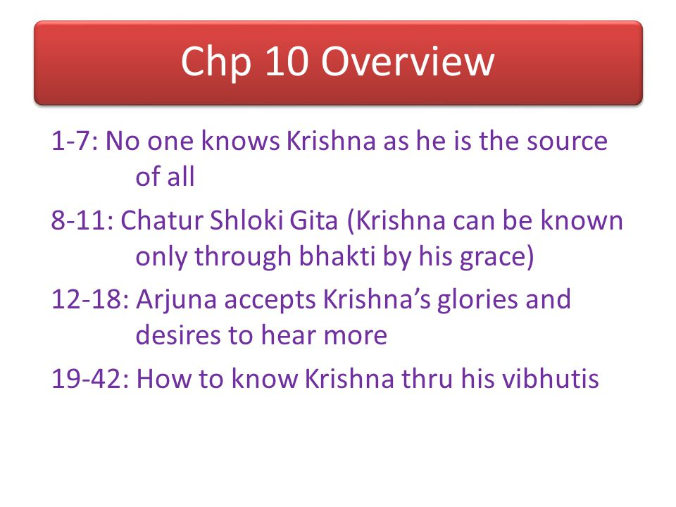 9.27: Karma-Jnana-Mishra- Pradhani Bhuta Bhakti Not sakama bhakti, because no material desires Not KY because all activities are offered, not just the