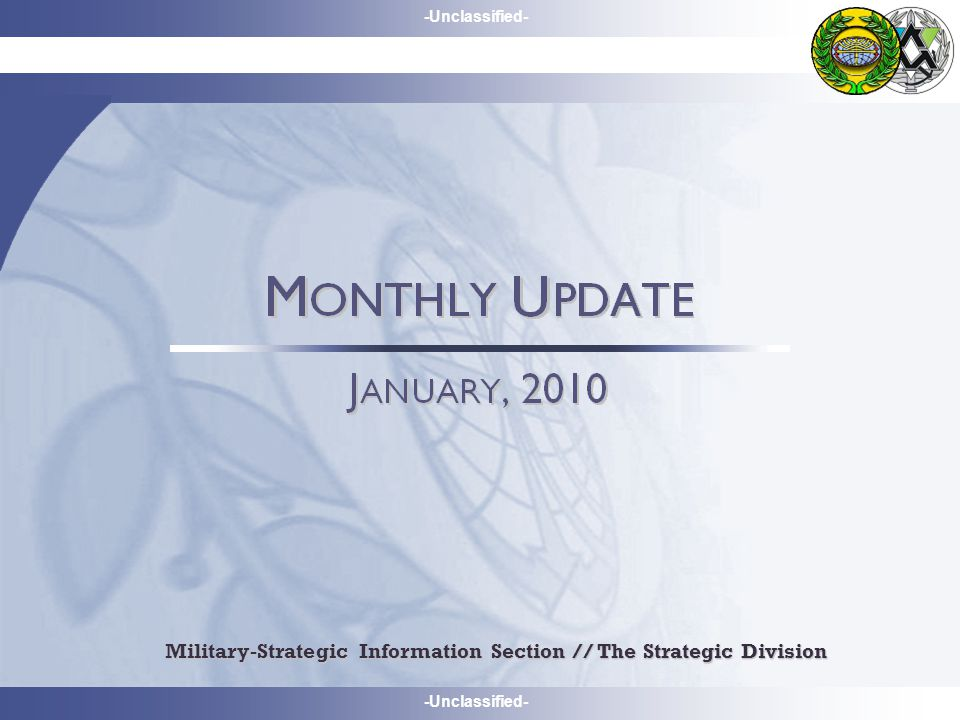 -Unclassified- Military-Strategic Information Section // The Strategic Division