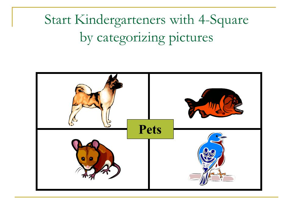 Prepare the graphic organizer. First fold your paper into 4 squares.