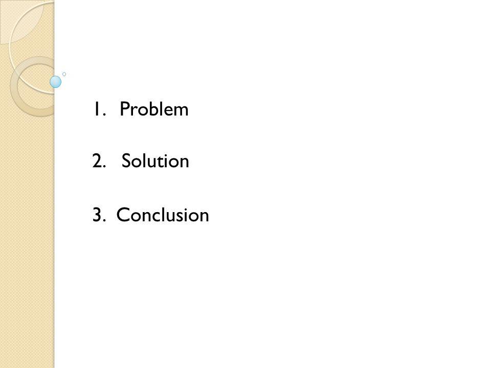 1.Problem 2. Solution 3. Conclusion