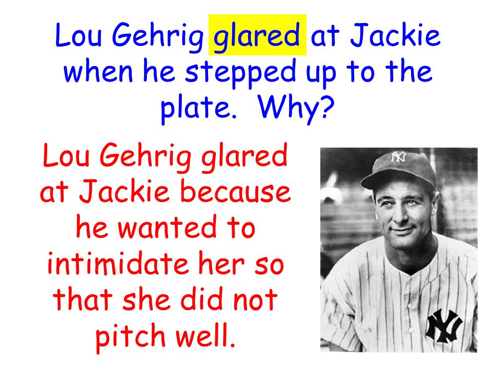 Why did the fans gape at Jackie when she struck out Babe Ruth.