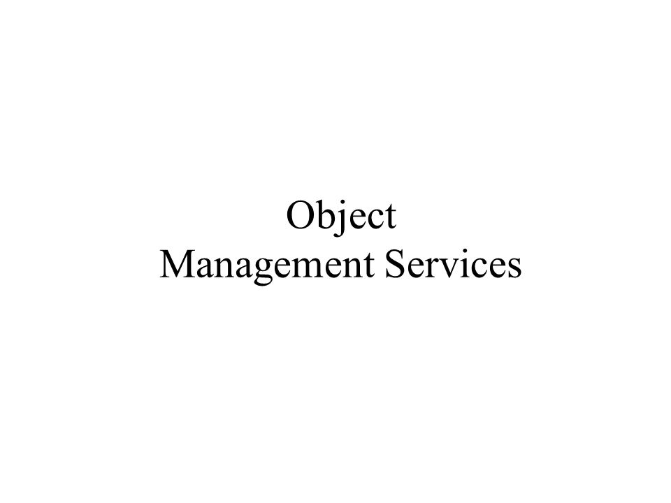 Object Management Services