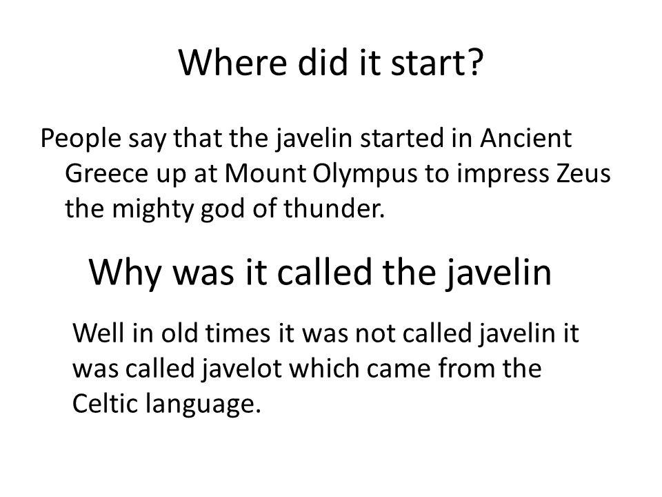 Where did it start.