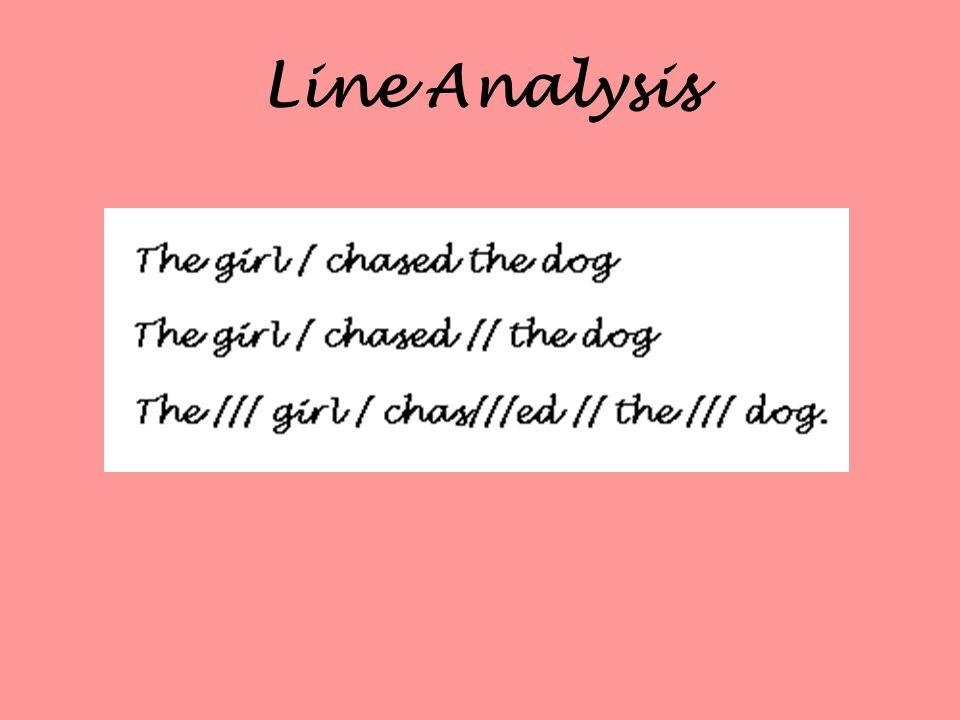 Line Analysis