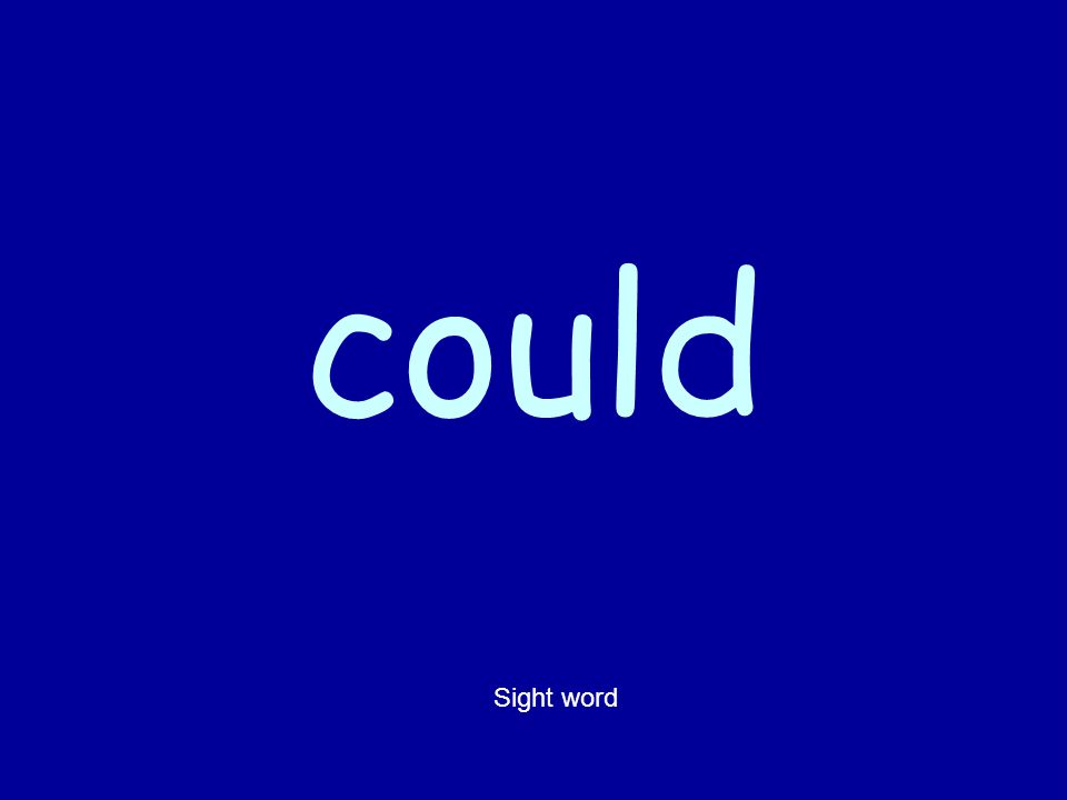 could Sight word