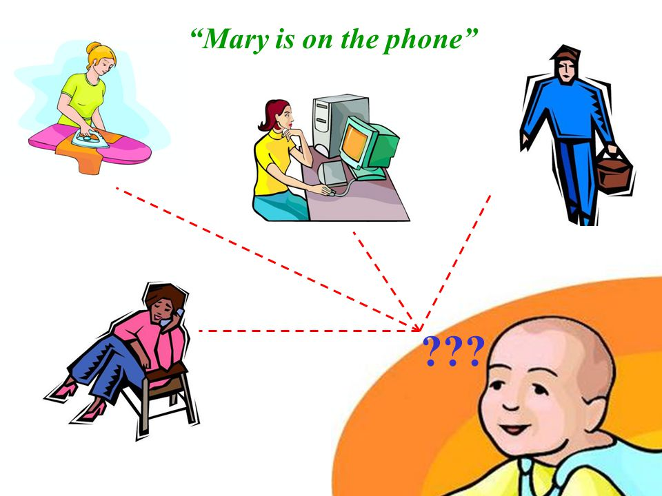 10 Mary is on the phone