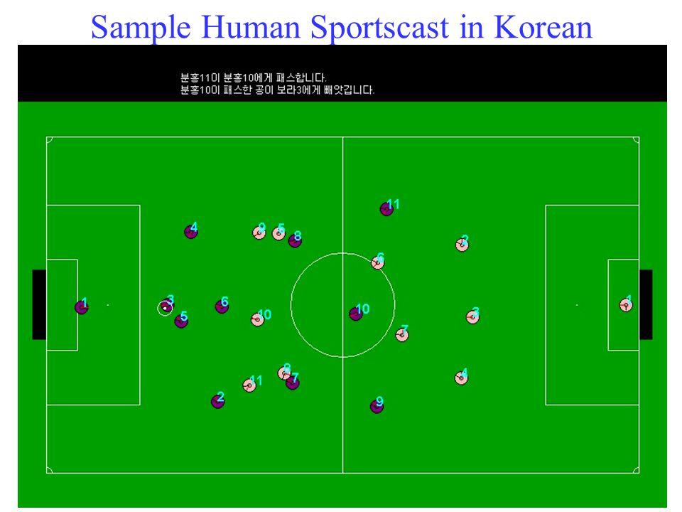 Sample Human Sportscast in Korean 32